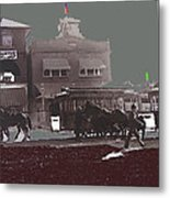 Horse Drawn Trolleys The Great White Hope Set Globe Arizona 1969-2013  Metal Print