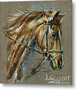 My Horse Face Drawing Metal Print