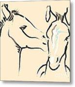 Horse-foals-together 6 Metal Print