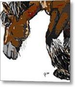 horse - Guus Metal Print
