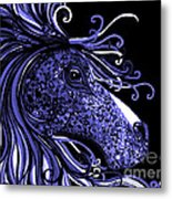 Horse Head Blues Metal Print