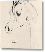 Horse Head Sketch Metal Print
