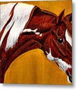 Horse Head Study Metal Print by Joy Reese