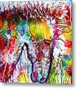 Horse In Abstract Metal Print