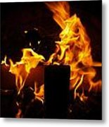 Horse In The Fire Metal Print