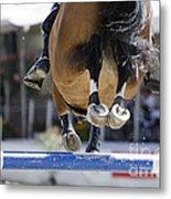 Horse Jumping Metal Print
