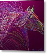 Horse Of Fire Metal Print