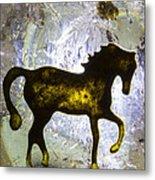 Horse On A Quartz Crystal Metal Print