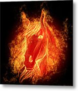 Horse On Fire  Metal Print