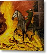 Horse On The Fire Metal Print