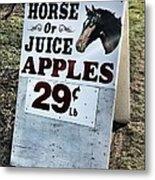 Horse Or Juice Apples Metal Print