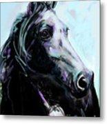 Horse Painted Black Metal Print