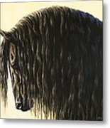 Horse Painting - Friesland Nobility Metal Print by Crista Forest
