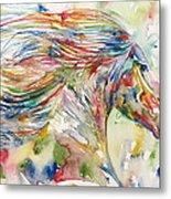 Horse Painting.24 Metal Print