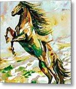 Horse Painting.25 Metal Print