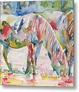 Horse Painting.27 Metal Print