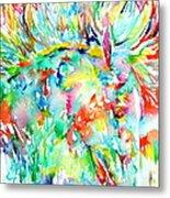 Horse Painting.29 Metal Print
