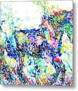 Horse Painting.33 Metal Print
