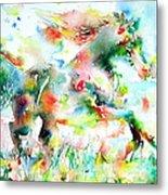Horse Painting.36 Metal Print