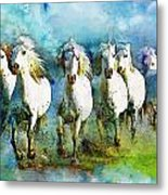Horse Paintings 006 Metal Print by Catf