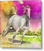 Horse Paintings 007 Metal Print
