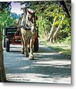 Horse Powered Mackinac Island Metal Print