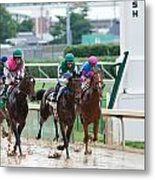 Horse Races At Churchill Downs Metal Print