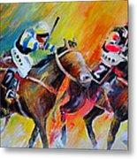 Horse Racing 05 Metal Print