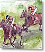 Horse Racing Metal Print
