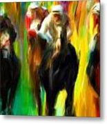 Horse Racing IIi Metal Print
