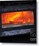 Horse Shoes On Fire Metal Print
