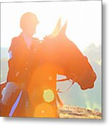 Horse Show Flares Metal Print