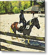 Horse Showing Metal Print