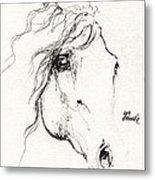 Horse Sketch 2014 05 24a Metal Print