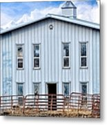 Horse Stable Metal Print