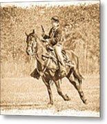 Horseback Soldier Metal Print
