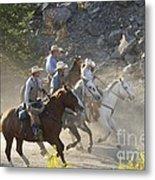 Horsemen Marching In Dust Metal Print