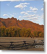 Horses In North Fork Canyon   #4106 Metal Print