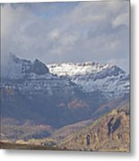 Horses In North Fork Canyon   #4876 Metal Print