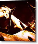 Horses In The Afternoon Metal Print