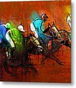 Horses Racing 01 Metal Print