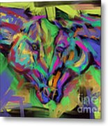 Horses Together In Colour Metal Print