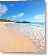 Horseshoe Bay Beach, Caribbean Sea Metal Print