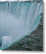 Horseshoe Falls Ice Formations Metal Print