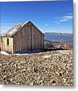 Horseshoe Mountain Mining Shack Metal Print by Aaron Spong