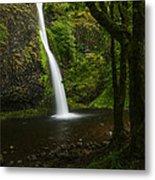 Horsetail Falls Columbia River Gorge Metal Print