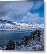 Horsetooth Reservoir Looking North Metal Print