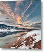 Horsetooth Sunset Hdr Metal Print