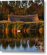 Horsey Mere On The Norfolk Broads On A Still Day In Autumn Metal Print