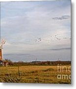 Horsey Windmill In Autumn Metal Print